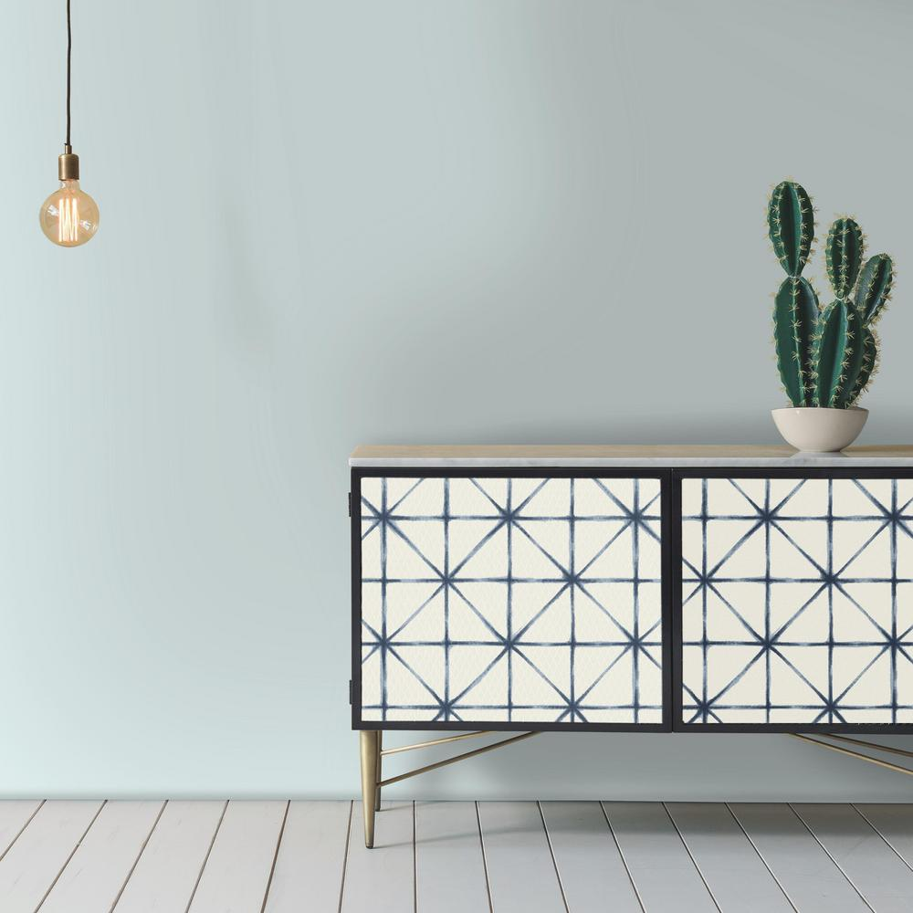 Modern Abstract Peel & Stick Wallpaper in Blue by ...