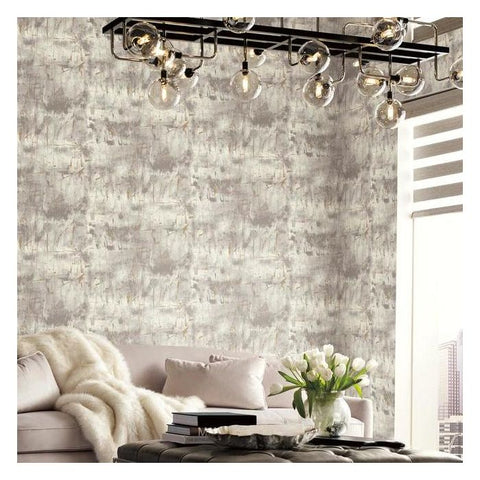 Modern Art Wallpaper in Grey from the Botanical Dreams Collection by Candice Olson for York Wallcoverings
