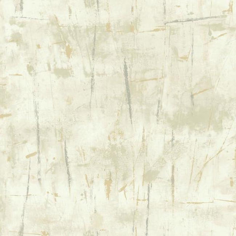 Modern Art Wallpaper in Cream from the Botanical Dreams Collection by Candice Olson for York Wallcoverings