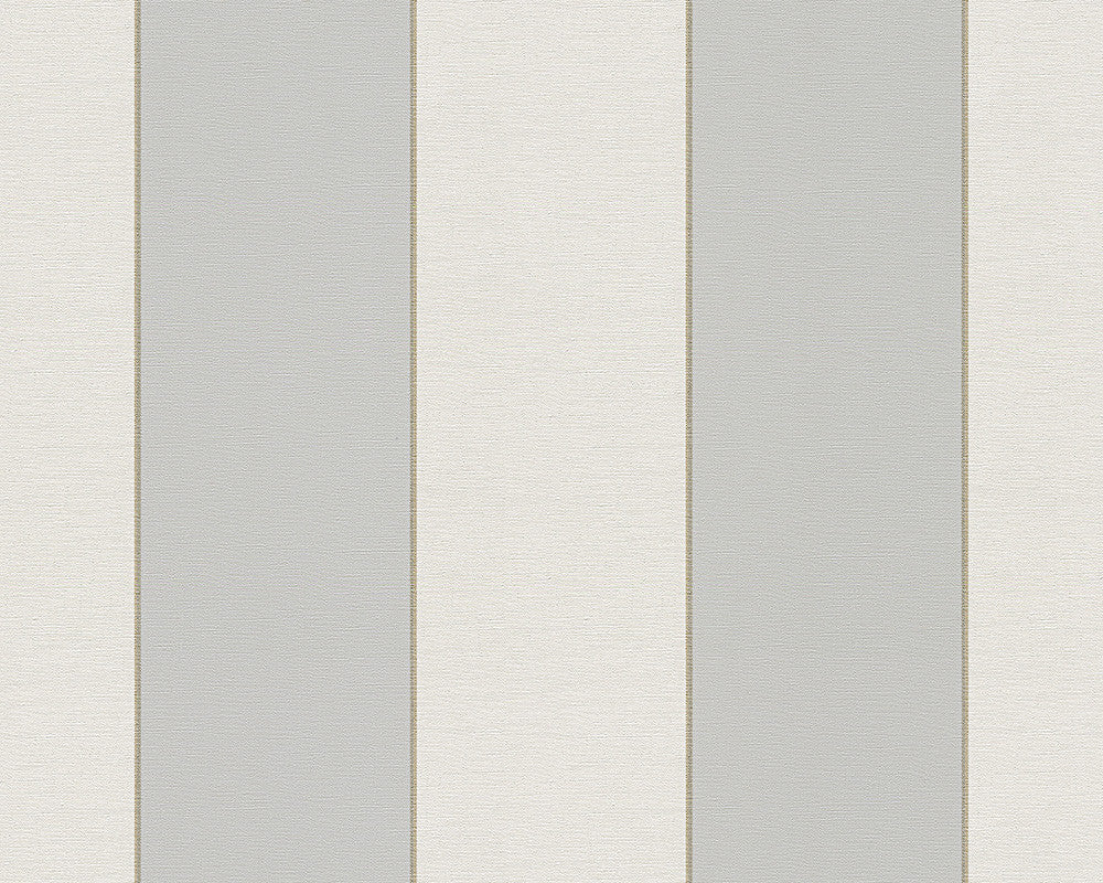 Sample Modern Stripes Large Wallpaper in Grey and Cream design by BD Wall