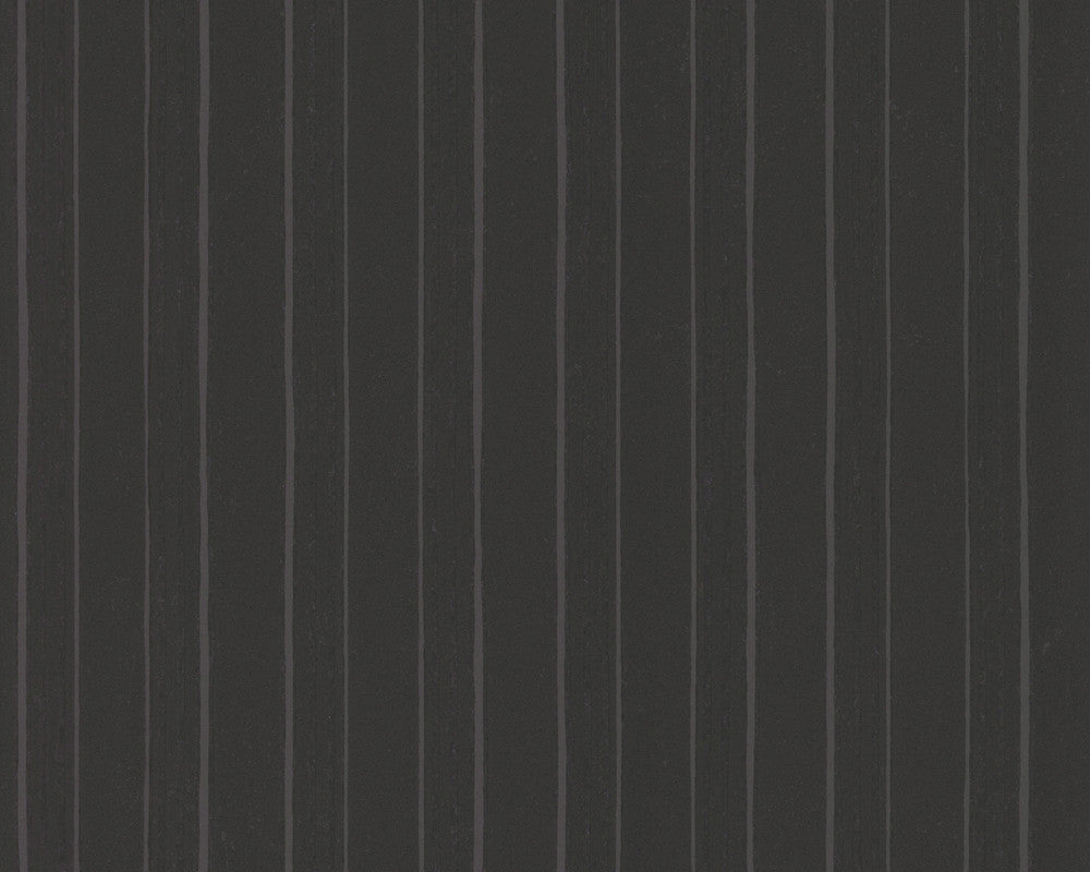 Modern Stripes Wallpaper in Black and Grey design by BD Wall