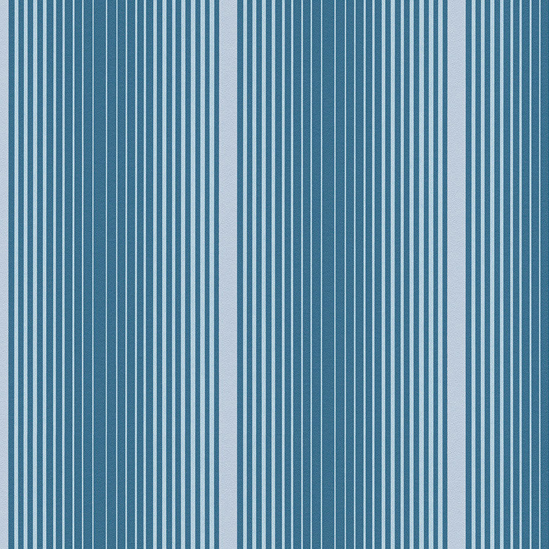 Sample Modern Stripes Wallpaper in Blue design by BD Wall