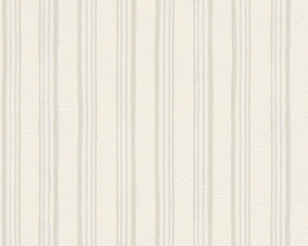 Sample Modern Stripes Wallpaper in Cream design by BD Wall