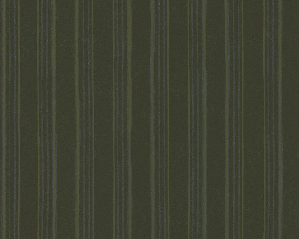 Modern Stripes Wallpaper in Green design by BD Wall