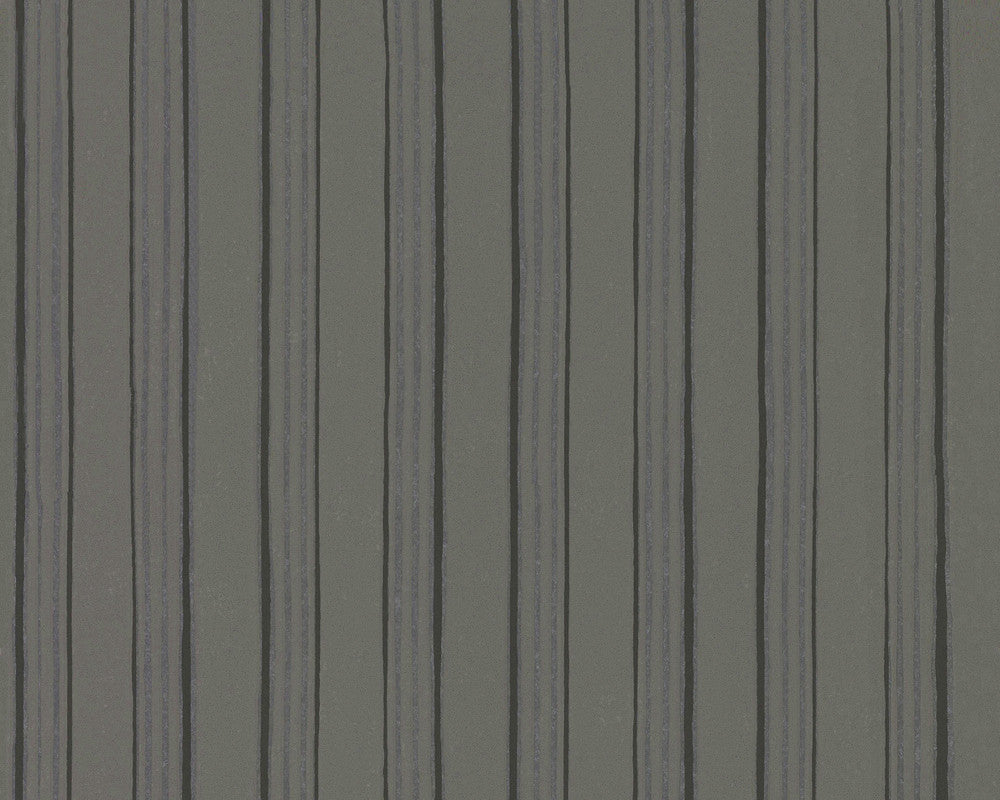 Modern Stripes Wallpaper in Grey design by BD Wall