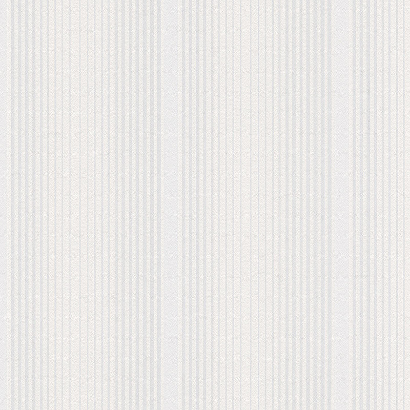 Modern Stripes Wallpaper in White design by BD Wall