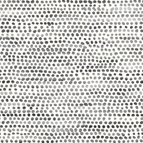 Moire Dots Self-Adhesive Wallpaper in Black and White design by Tempaper