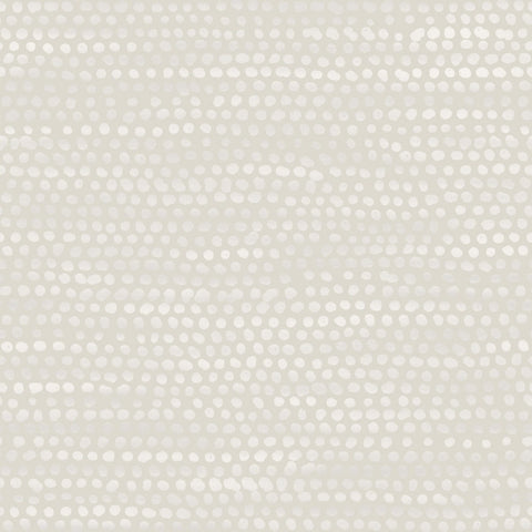 Moire Dots Self-Adhesive Wallpaper in Pearl Grey design by Tempaper