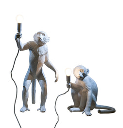 Monkey Lampshade In White Design By Seletti Burke Decor