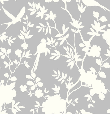 Mono Toile Peel-and-Stick Wallpaper in Harbor Mist from the Luxe Haven Collection by Lillian August