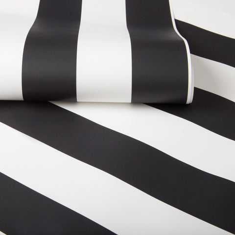 Monochrome Stripe Wallpaper from the Kids Collection by Graham & Brown