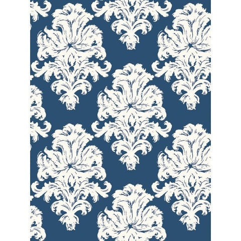 Montserrat Wallpaper in Blue from the Tortuga Collection by Seabrook Wallcoverings