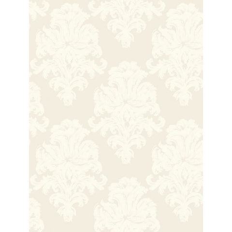 Montserrat Wallpaper in Neutrals and White from the Tortuga Collection by Seabrook Wallcoverings