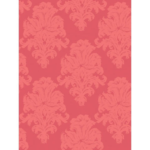Montserrat Wallpaper in Pink from the Tortuga Collection by Seabrook Wallcoverings