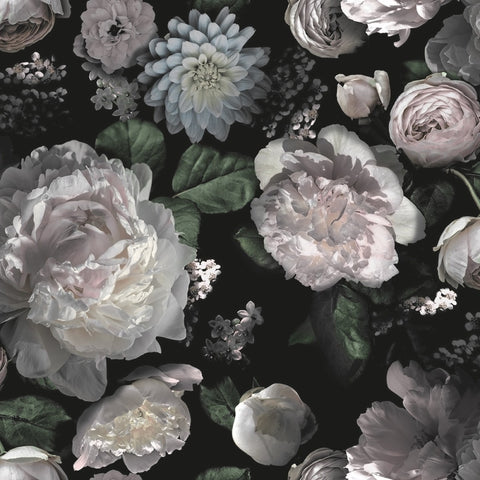 Moody Floral Self-Adhesive Wallpaper by Tempaper