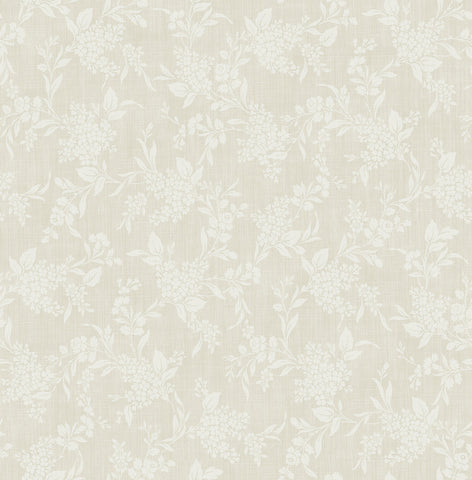 Morning Trail Wallpaper in Beige from the Spring Garden Collection by Wallquest
