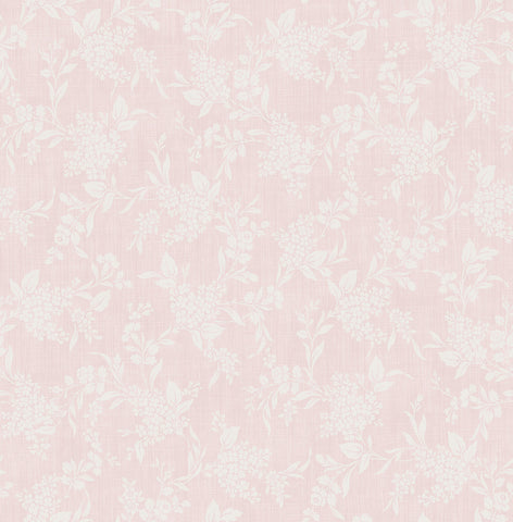 Morning Trail Wallpaper in Pretty Pink from the Spring Garden Collection by Wallquest