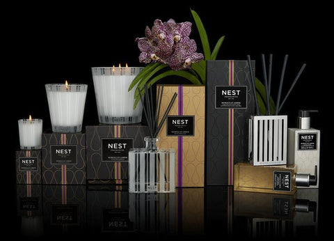 Moroccan Amber Luxury Reed Diffuser design by Nest Fragrances
