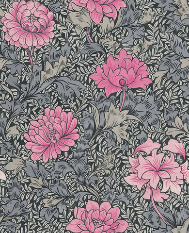 Morrissey Flower Wallpaper in Raspberry from the Sanctuary Collection by Mayflower Wallpaper