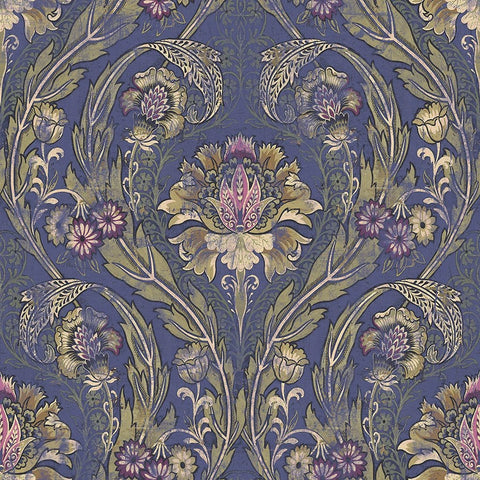 Morrissey Wallpaper in Plum from the Sanctuary Collection by Mayflower Wallpaper