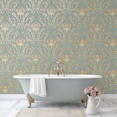 Morrissey Wallpaper in Thunderbird from the Sanctuary Collection by Mayflower Wallpaper
