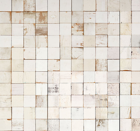 Mosaic Squares White Wallpaper by Piet Hein Eek for NLXL Monochrome Collection