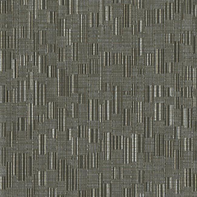 Mosaic Weave Wallpaper in Black from the Design Digest Collection by York Wallcoverings