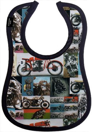 Motobike Baby Bib by Mini Maniacs