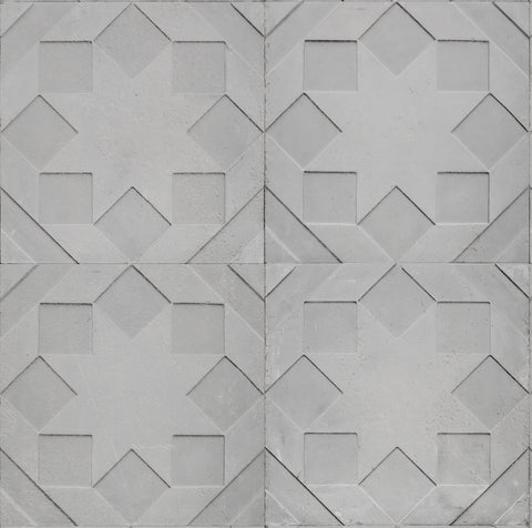 Sample Moulded Star Wallpaper by Nada Debs for NLXL Monochrome Collection