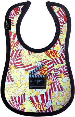 Movie Night Baby Bib by Mini Maniacs