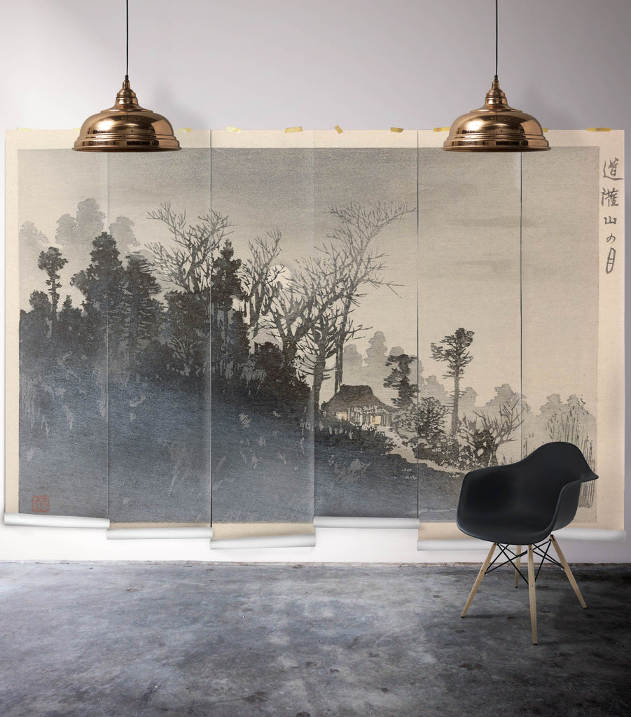 Sample Mt Tsukuba Mist Wall Mural from the Erstwhile Collection by Milton & King
