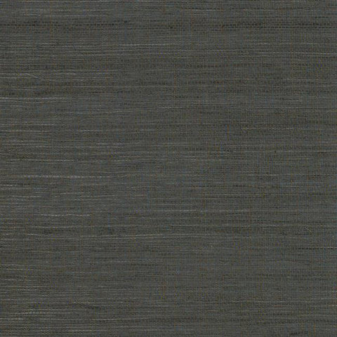 Multi Grass Wallpaper in Deep Brown from the Grasscloth II Collection by York Wallcoverings