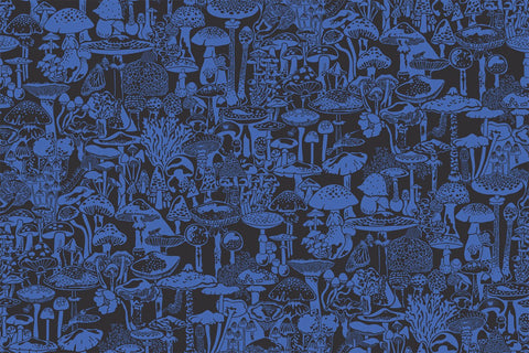 Mushroom City Wallpaper in Asteroid design by Aimee Wilder
