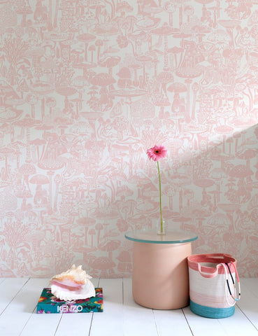 Mushroom City Wallpaper in Daisy design by Aimee Wilder