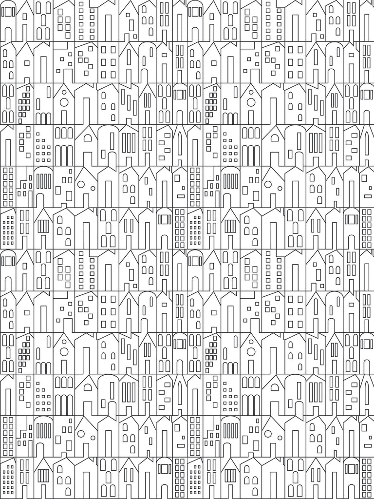 My House Wallpaper in Charcoal by Marley + Malek Kids