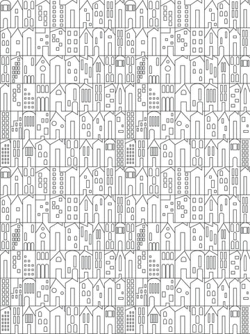 My House Wallpaper in Charcoal by Sissy + Marley for Jill Malek
