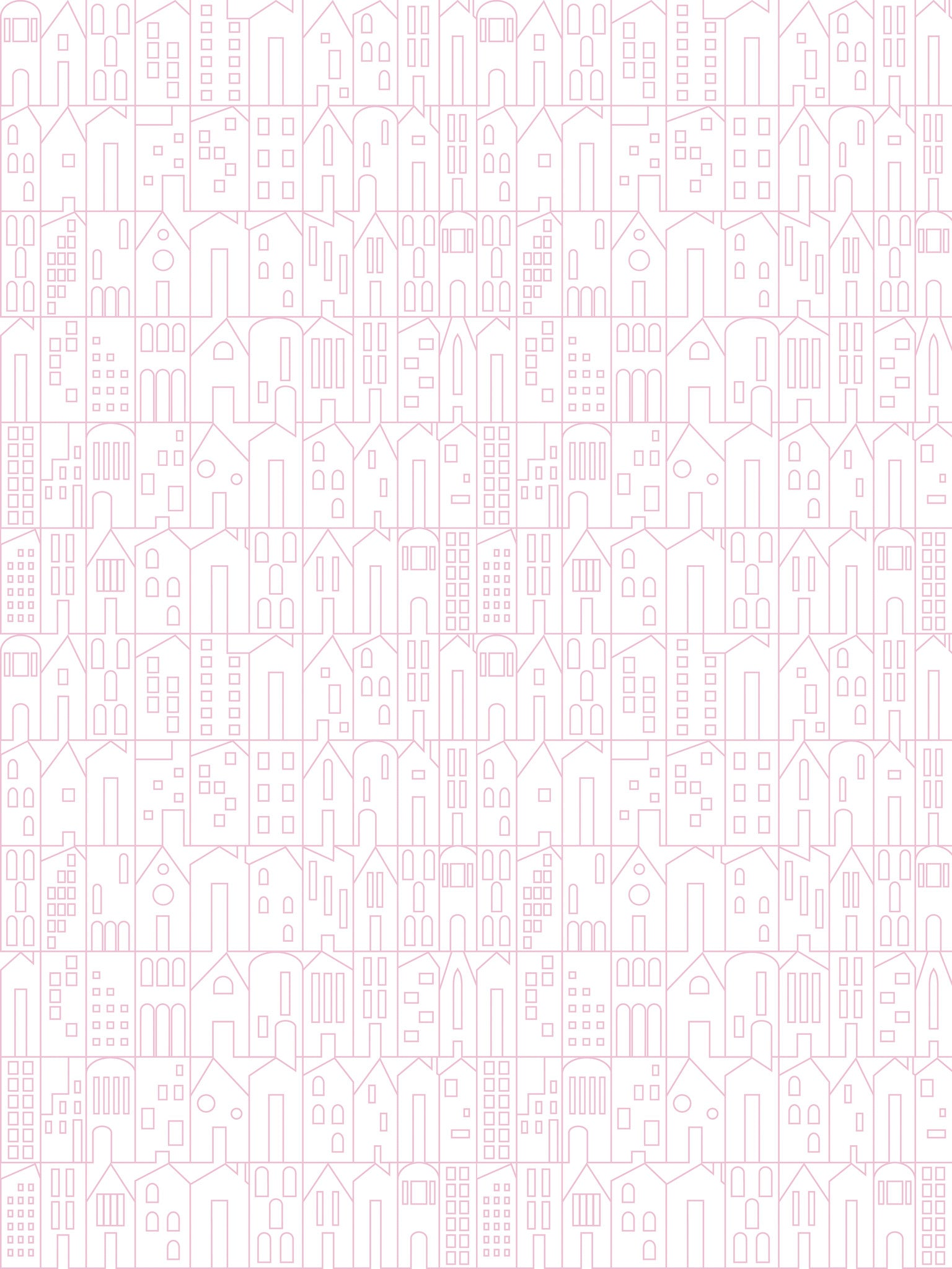 My House Wallpaper in Pink by Sissy Marley for Jill Malek – BURKE
