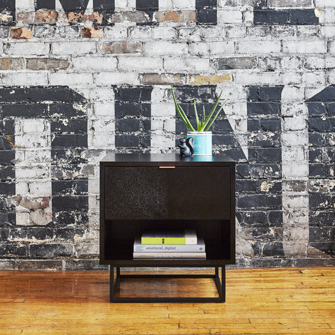 ... Myles End Table In Black Oak Design By Gus Modern