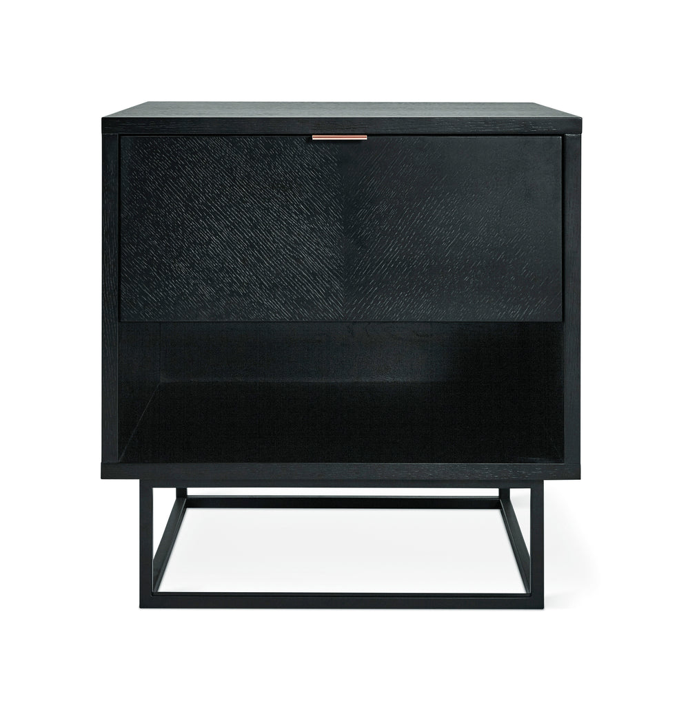 Myles End Table in Black Oak design by Gus Modern