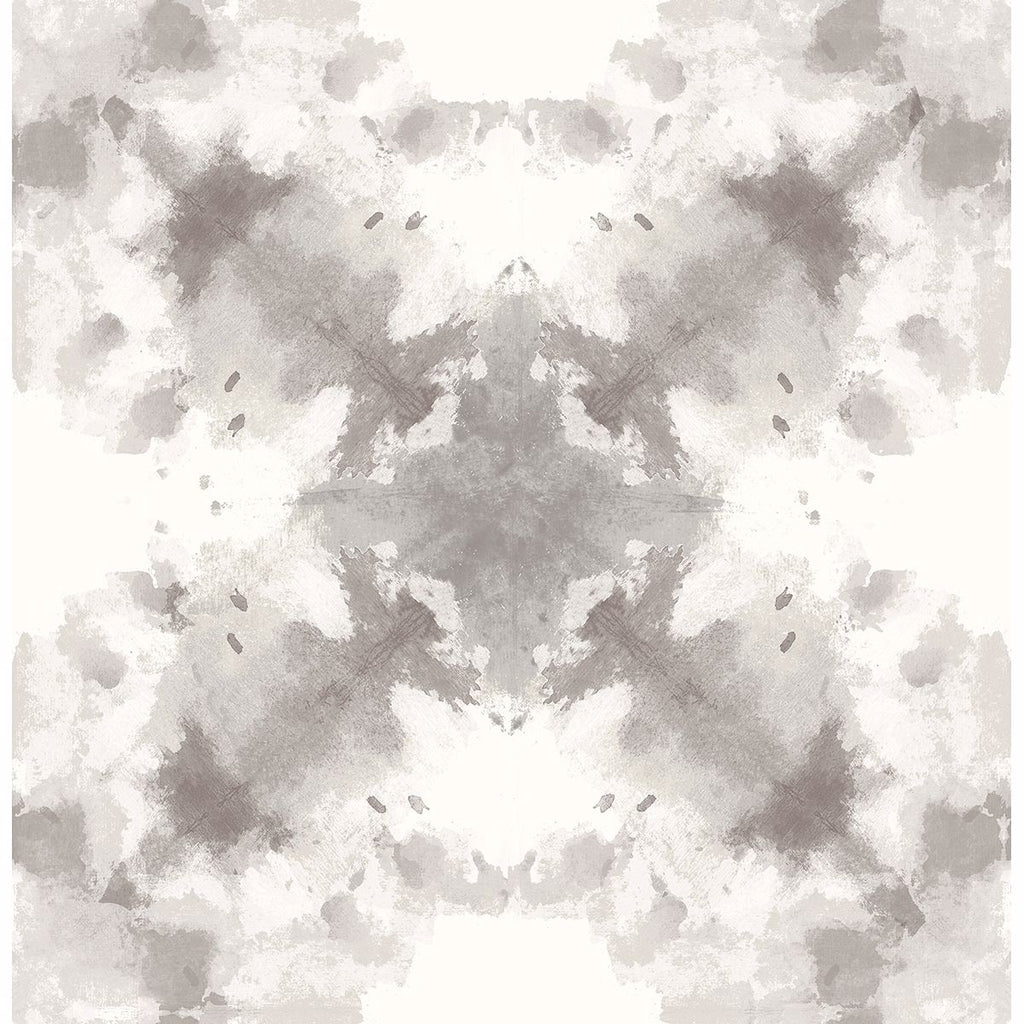Sample Mysterious Abstract Wallpaper in Taupe from the Moonlight Collection by Brewster Home Fashions