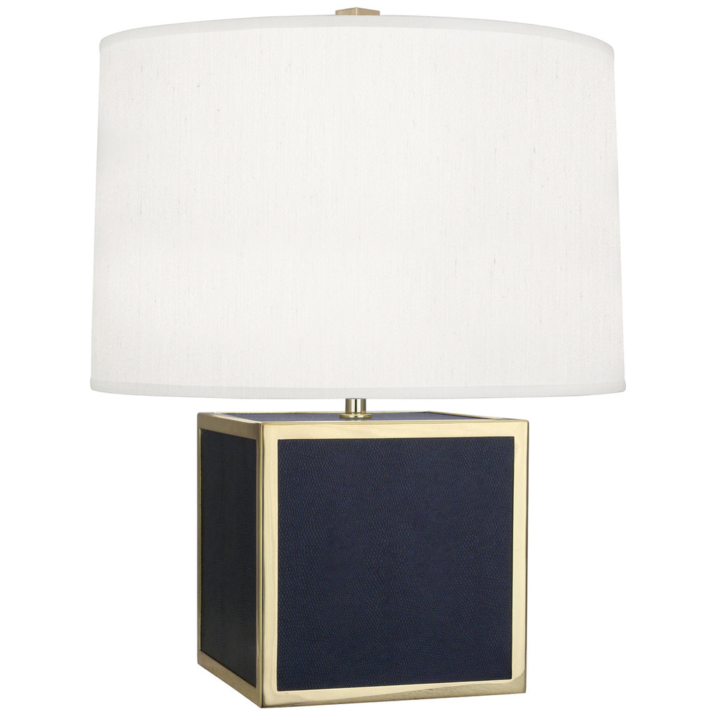 Anna Accent Lamp in Faux Navy Snakeskin design by Robert Abbey