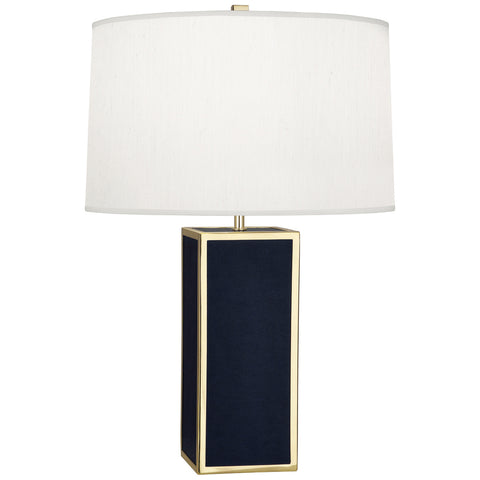 Anna Table Lamp in Faux Navy Snakeskin design by Robert Abbey