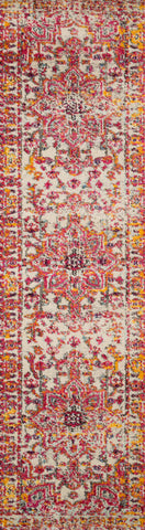 Nadia Rug in Ivory / Pink by Loloi II