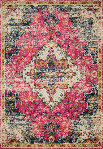 Nadia Rug in Pink / Midnight by Loloi II