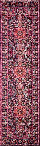 Nadia Rug in Midnight / Pink by Loloi II