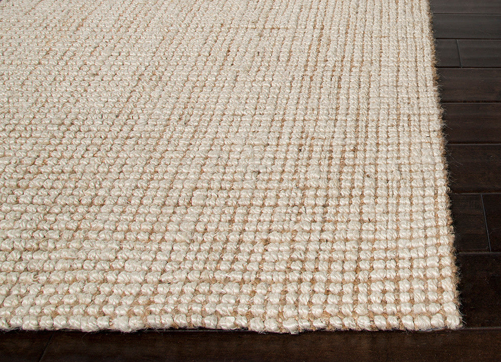 Mayen Natural Solid White & Tan Area Rug
