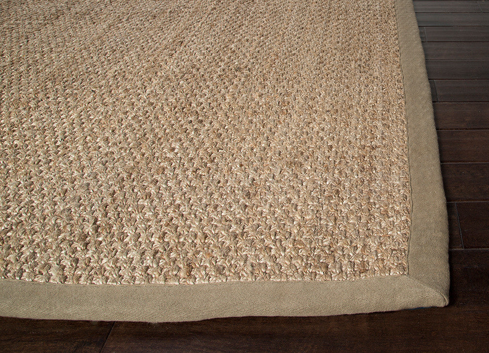 Adesina Natural Solid Beige Area Rug