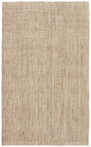 Mayen Natural Solid White & Tan Area Rug design by Jaipur