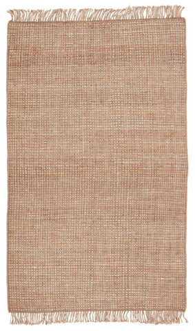 Sauza Natural Solid Beige & Ivory Rug by Jaipur Living