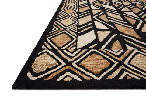 Nala Rug in Black / Beige by Loloi